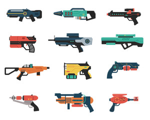 Set of Futuristic Weapons