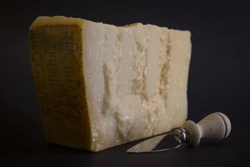 Slice of Parmigiano Reggiano Cheese