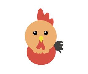 cute cock head design