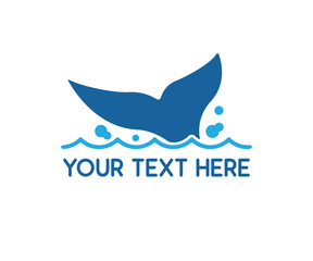 whale tail logo design