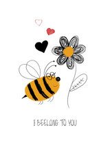 Love Card With Cute Bee.