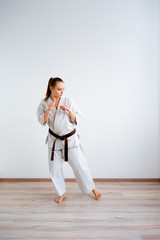 Karate girl training