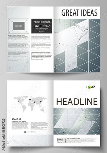 Business templates for bi fold brochure, magazine, flyer, booklet ...