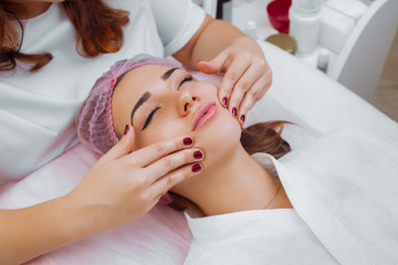Cosmetic massage, facial treatment.