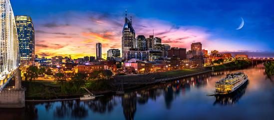 Wall Mural - Nashville sunset with General Jackson showboat