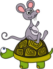 Turtle with a mouse