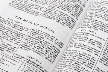The Book of Moroni, The Book Of Mormon, from the Church of Jesus Christ of Latter Day Saints