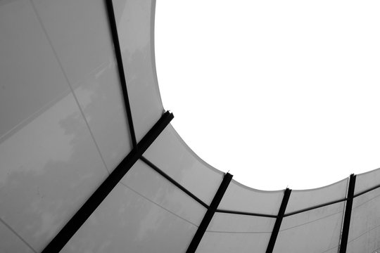 Structure of fabric tensile roof - monochrome