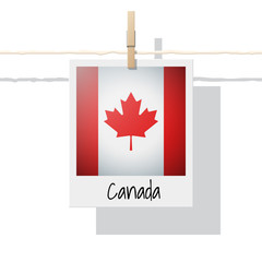 North America continent flag collection with photo of Canada flag , vector , illustration