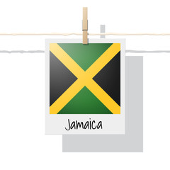 North America continent flag collection with photo of Jamaica flag , vector , illustration