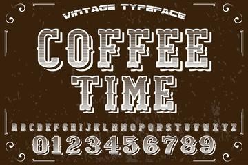 vintage font  handcrafted vector and label  design