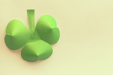 Clover leaves. St. Patrick's Day in Ireland.