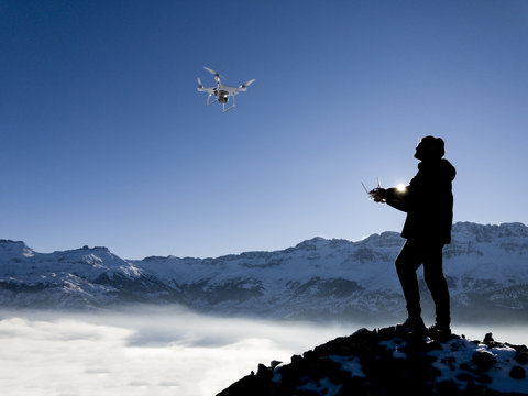 drone & use an unmanned aerial vehicle