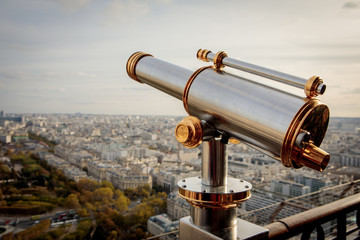 Monocular telescope at Eiffel Tower