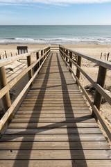wooden bridge to access the beach