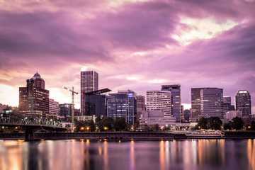 City skyline, Portland, Oregon, America, USA
