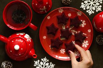Sweets marmalade on black currant and agar-agar