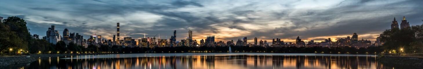 Central park dusk