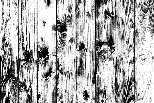 Wooden black and white background in grunge style, wooden texture background, structured surface, natural backdrop with nothing, wooden floor view in front, mockup floor grunge photography