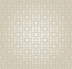 Silver wallpaper. Modern background, flower pattern. Retro style. Silver and gray color. Vector art