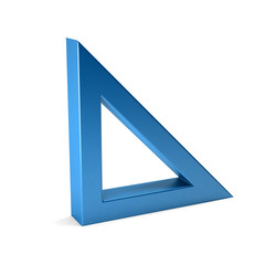 Right Triangle Geometry. 3D Render Illustration