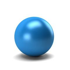 Blue Sphere. 3D Render Illustration