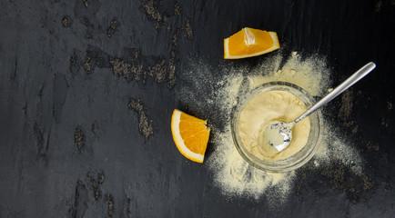 Orange Powder (selective focus)