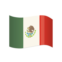 Traditional official flag of the State of Mexico.