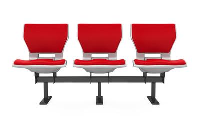 Red Stadium Seats Isolated