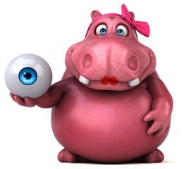 Pink Hippo - 3D Illustration