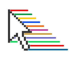 cursor arrow speed pointer mouse internet web network image vector