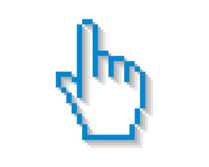 cursor hand icon pointer mouse internet web network image vector