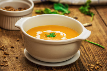Pumpkin and carrot soup