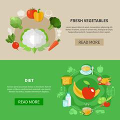 Healthy Eating Banner Set
