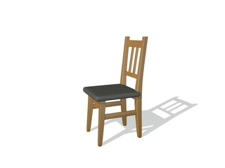 Chair. Isolated on white background. 3D rendering illustration.