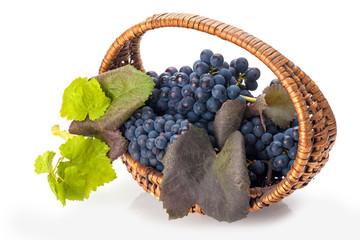 Grapes in basket Fototapete