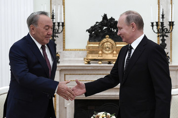 Russian President Putin meets with his Kazakh counterpart Nazarbayev in Moscow