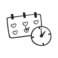 Vector hand drawn icon of schedule