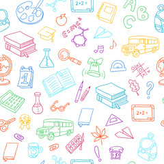 Back to School. Can be used for textile, website background, book cover, packaging.
