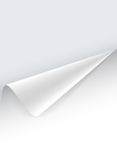 Paper poster with a wrapped up corner
