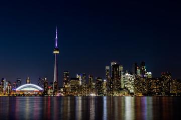 Papiers peints Toronto Night view of downtown Toronto, Ontario, Canada