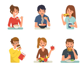 people eating
