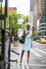 Fashionable black woman in New York