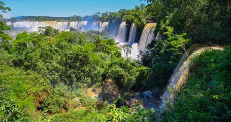 The Iguazu Falls on the Argentine side.