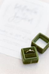 ring in green velvet ring box