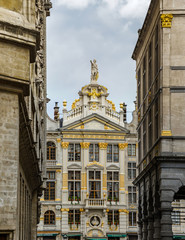 Beautiful architecture of Brussels, central district