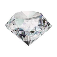 Beautiful diamond. Insulated  gem stone on white background