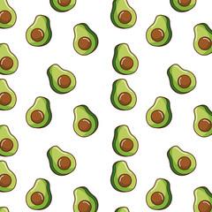 seamless pattern avocado fresh food slice vector illustration