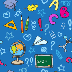 Back to School. Texture for wallpaper, fills, web page background.