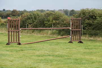 A Plain Wooden Horse Jump for Event Practicing.